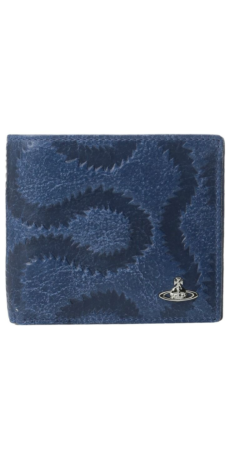 Womens Pouch, Anglomania, Blue, Leather, 2017, Universal Size Vivienne Westwood
