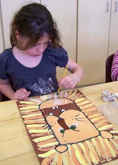Lion crinière peinture