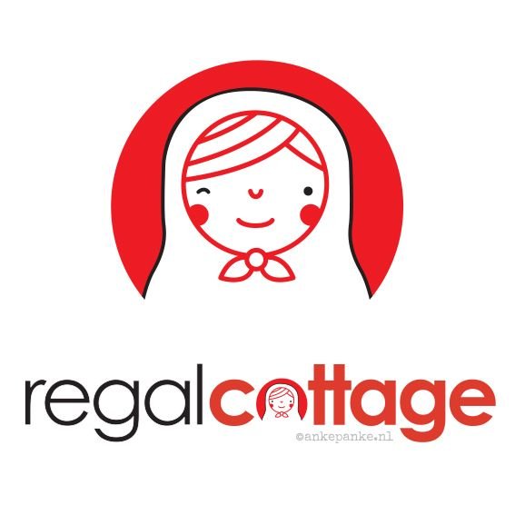 Logo & Icon design for Regal Cottage (handmade products webshop) by http://ankepanke.nl
