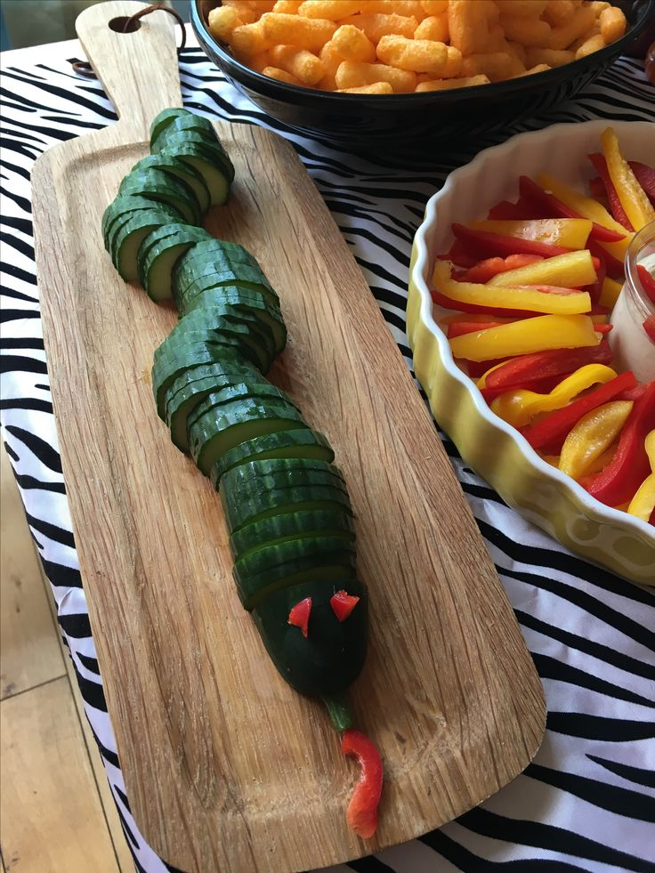Cucumber snake for Jungle theme party