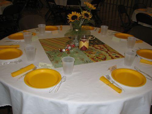 Round Church Table Decor