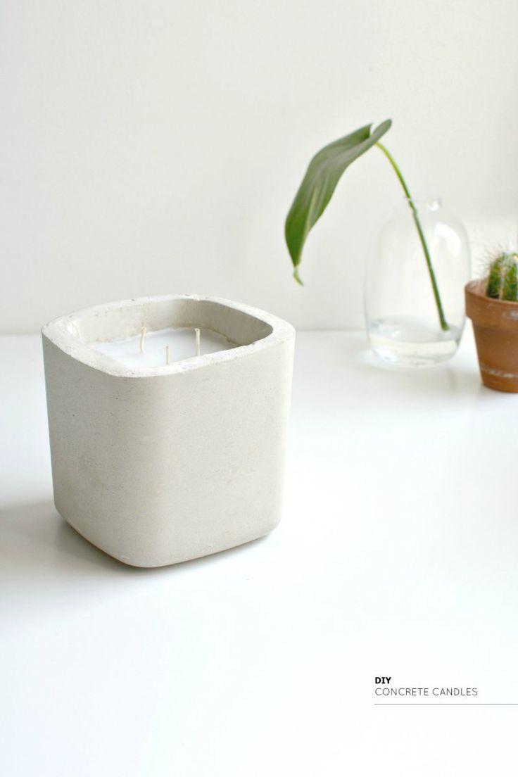 burkatron: diy   concrete candles