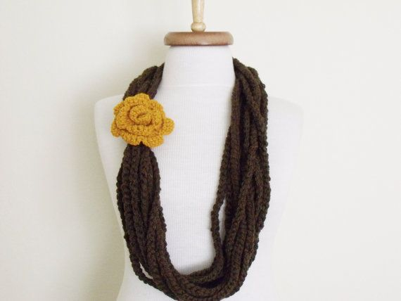 Free ShippingRapunzel Wool ScarfRed Accessories by knittingshop