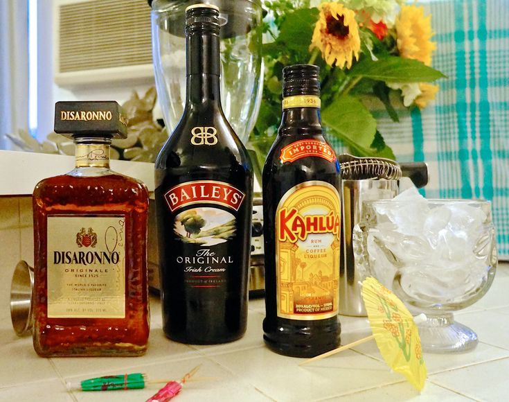 Inspired by Tiki Ti's Milky Way: 2 oz. Baileys, 1 oz. Disaronno, 1 oz. Kahlua, crushed ice