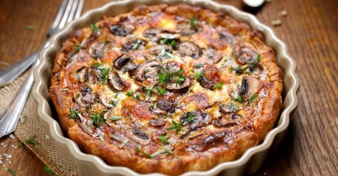 Recette de Quiche express minceur aux champignons. Facile et rapide à réaliser, goûteuse et diététique. Ingrédients, préparation et recettes associées.