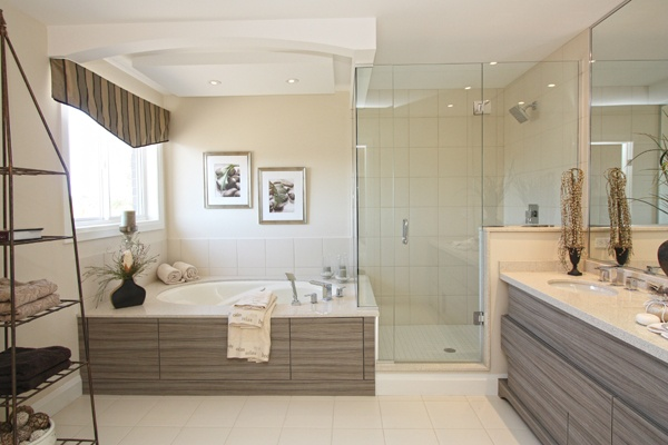 Modern ensuite bathroom at Country Ridge Estates by Marz Homes. www.home-hamilton.com