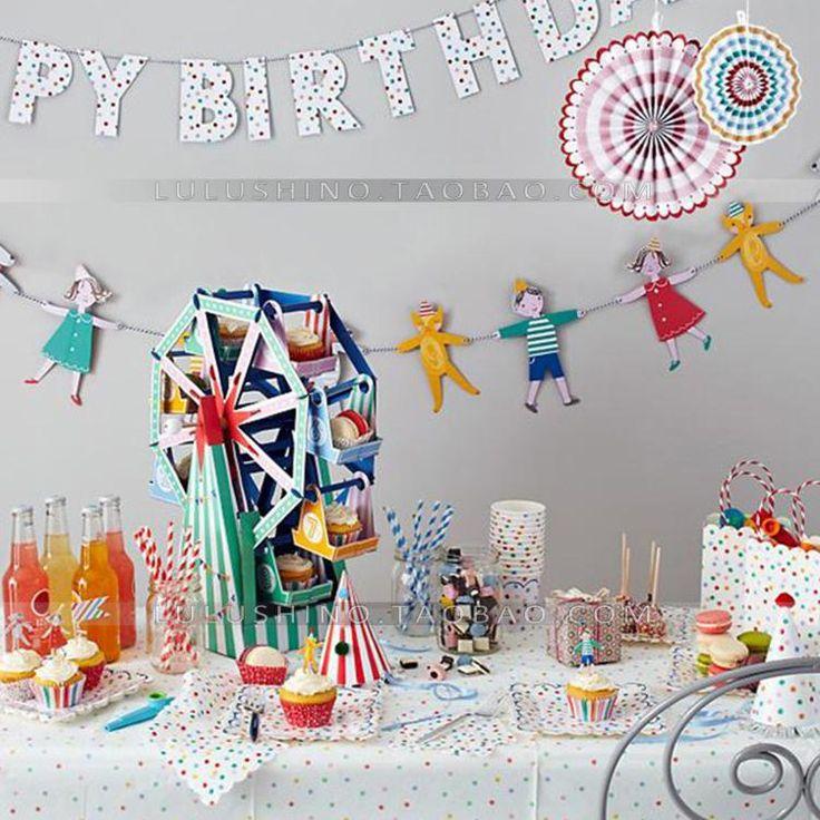 Купить Партия украшение флаг цветы милые дети, взявшись за руки из категории Бумажные гирлянды и праздничные украшения на Kupinatao.com