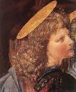 The Baptism of Christ (detail by Leonardo da Vinci) 1472-75  by Andrea Del Verrocchio