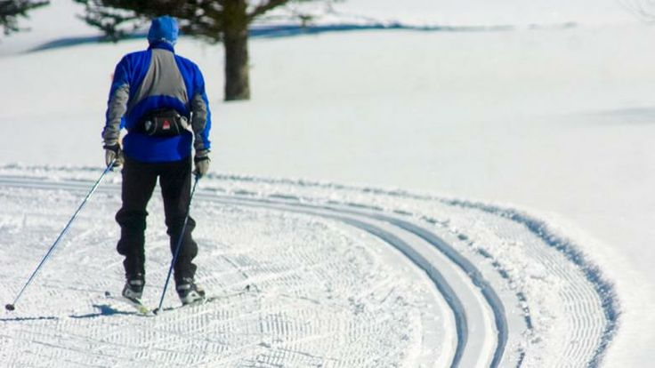 Cross-country skiing on a groomed trail at the Vail Nordic Center; http://gazette.com/quieter-cheaper-experience-awaits-nordic-skiers/article/41808