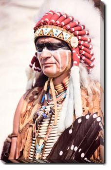 Tablou Canvas Chieftain Culoare: Color Format: Portrait