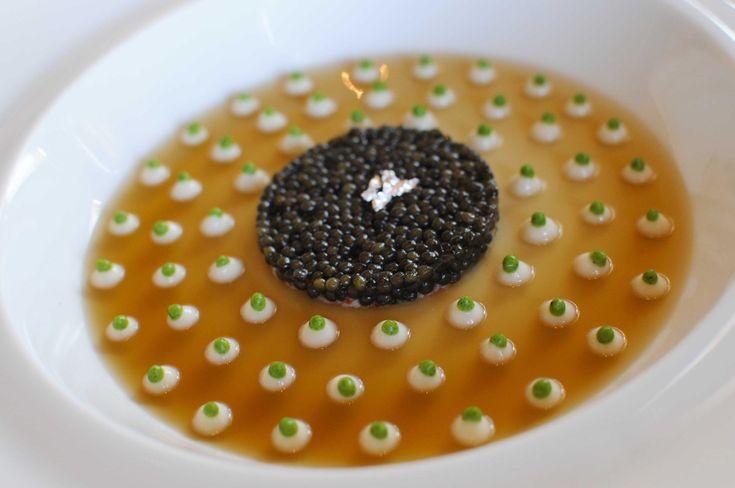 'Caviar Araignee de Mer' by Joël Robuchon (Cream of Cauliflower with king crab and caviar)