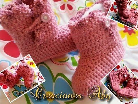 Aprende cómo hacer paso a paso estos hermosos zapatitos de bebé tipo zapatillas, tejidos a crochet, para talles 10 y 11 cm. Para talle recién nacido y 3 mese...