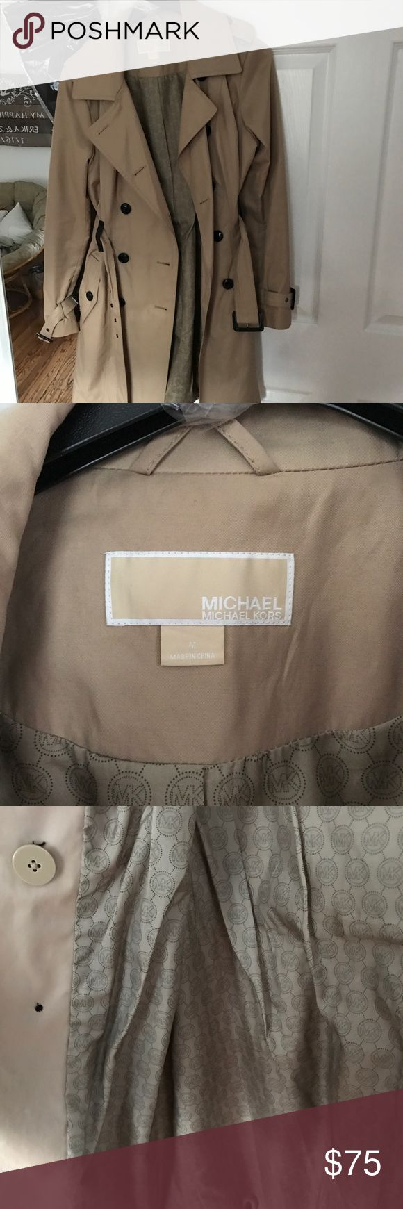 Michael Kors Trench Coat Camel color MK trench coat Michael Kors Jackets & Coats Trench Coats
