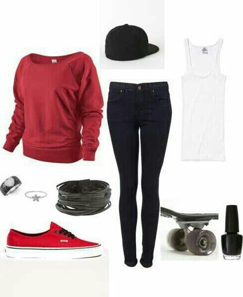 Cute skater girl outfit