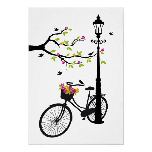 Bicicleta con la lámpara