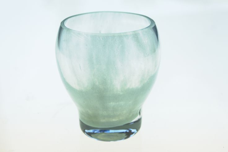 Drinking glass, part of a product family (2016), made by Sini Kauranen See more: http://akita.arkku.net/english