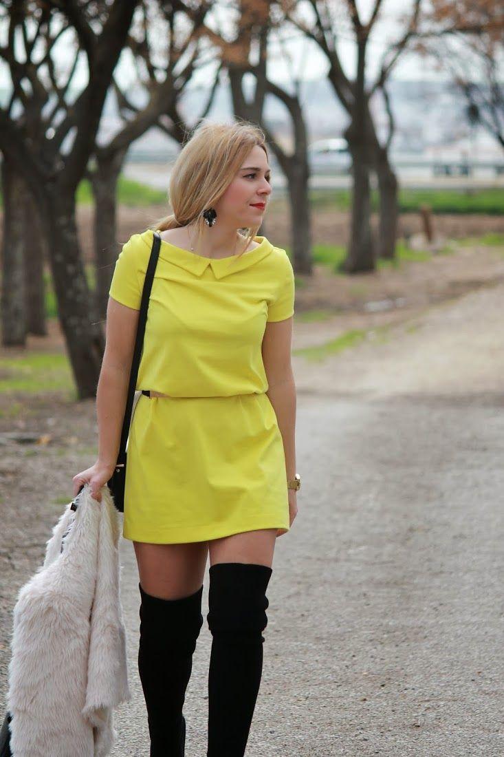 FASHION IS MY LIFE BY ESTEFANIA: Look vestido amarillo