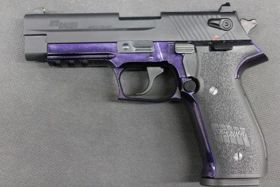 Seriously!!!! Love me a hand gun. And it's purple! It's PURPLE people!!!