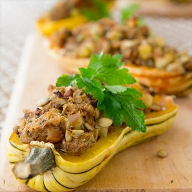 Delicate Squash with Thanksgiving Stuffing - Thermador