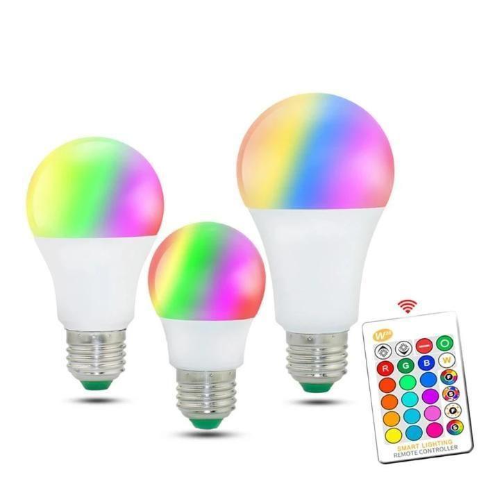 Colored Light Bulbs 220v 15w E27 White Rgb Remote Control Colored Light Bulbs Color Changing Light Bulb Led Diy