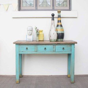 Teal hall table - love this colour