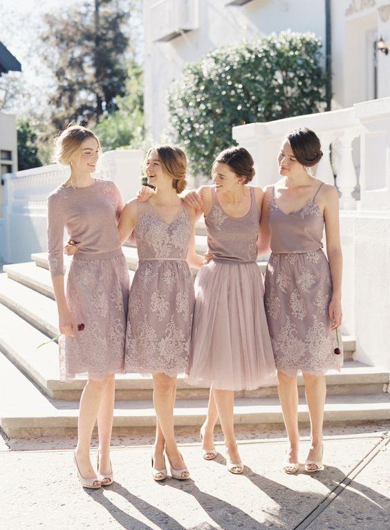 mix and match bridesmaids #jennyyoo #bridesmaidseparates #lavenderbridesmaids