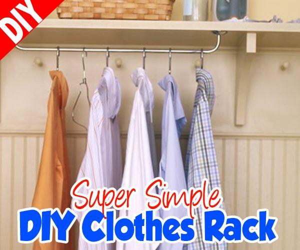 Diy Child Clothes Rack: Best 25+ DIY Clothes Rack Cheap Ideas On Pinterest