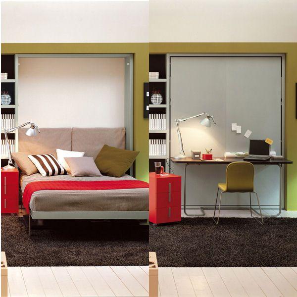 Vivre et dormir dans un espace restreint est souvent synonyme de casse-tête en ce qui concerne l'aménagement. Nous vous avons donc concocté une sélection de mobilier futé pour aménager la chambre sans difficulté.