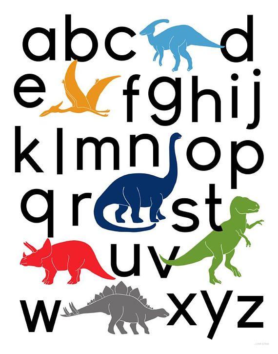 printable dinosaur alphabet poster