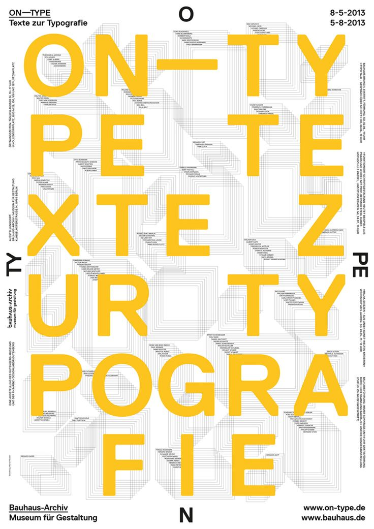 ON‐TYPE: Texts on Typography   Bauhaus Archive exhibition