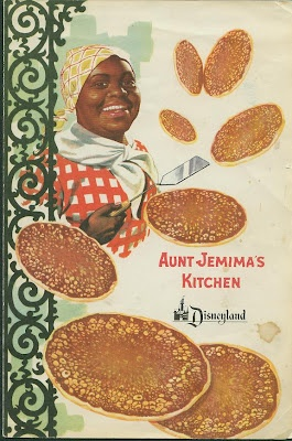Vintage Aunt Jemima Menu at Disneyland-this is the beast part of this board