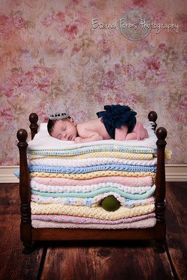 The Princess and the Pea.  Newborn Photography for Greater Austin Area by Eternal Forms - EternalForms.com