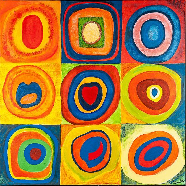 Concentric circles (2013) Tecniche miste su tela cm 90x90