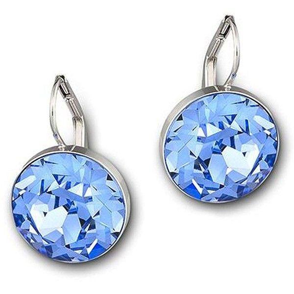 Swarovski Bella Swarovski Crystal Mini Drop Earrings ($79) ❤ liked on Polyvore featuring jewelry, earrings, blue, swarovski jewellery, sparkle jewelry, earring jewelry, drop earrings and swarovski crystals earrings