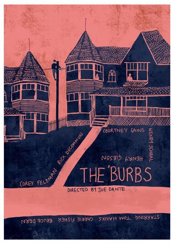 The Burbs Movie Art Print Etsy In 2020 Movie Art Print The Burbs The Burbs Movie