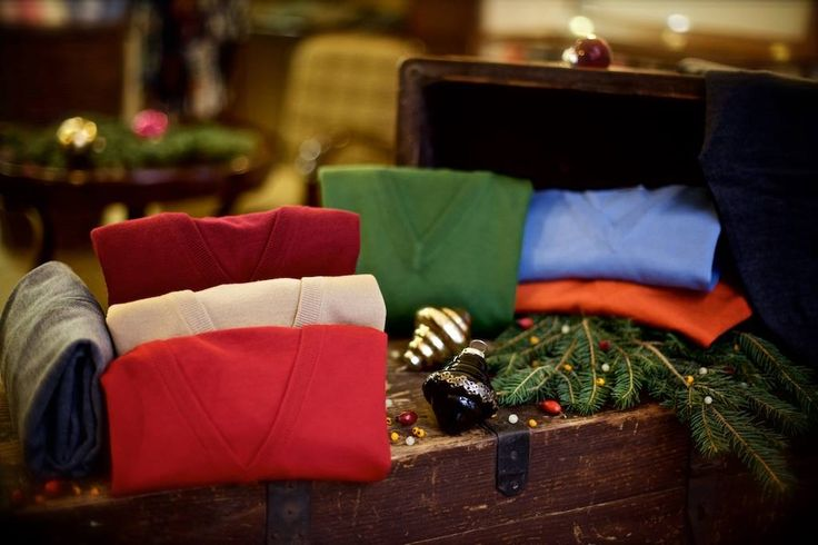"""""""On the Eighth day of Christmas my true love sent to me Eight Swanky Sweaters...""""  Fine gauge Merino wool jumpers from Italy's Gran Sasso . Light, warm, and classically stylish."""