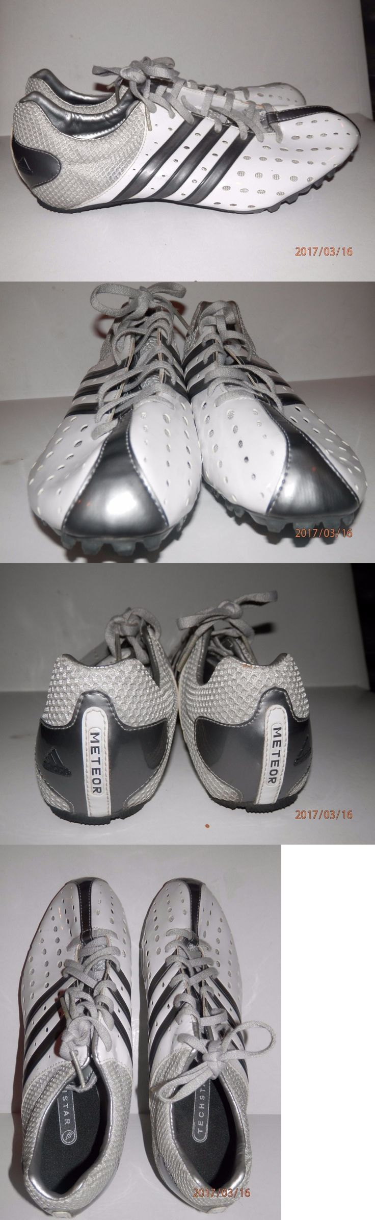 Track and Field 106981: Mens Adidas Techstar Meteor Track Sprint Cleat Shoes Size 9 White Silver Cleats -> BUY IT NOW ONLY: $35.0 on eBay!