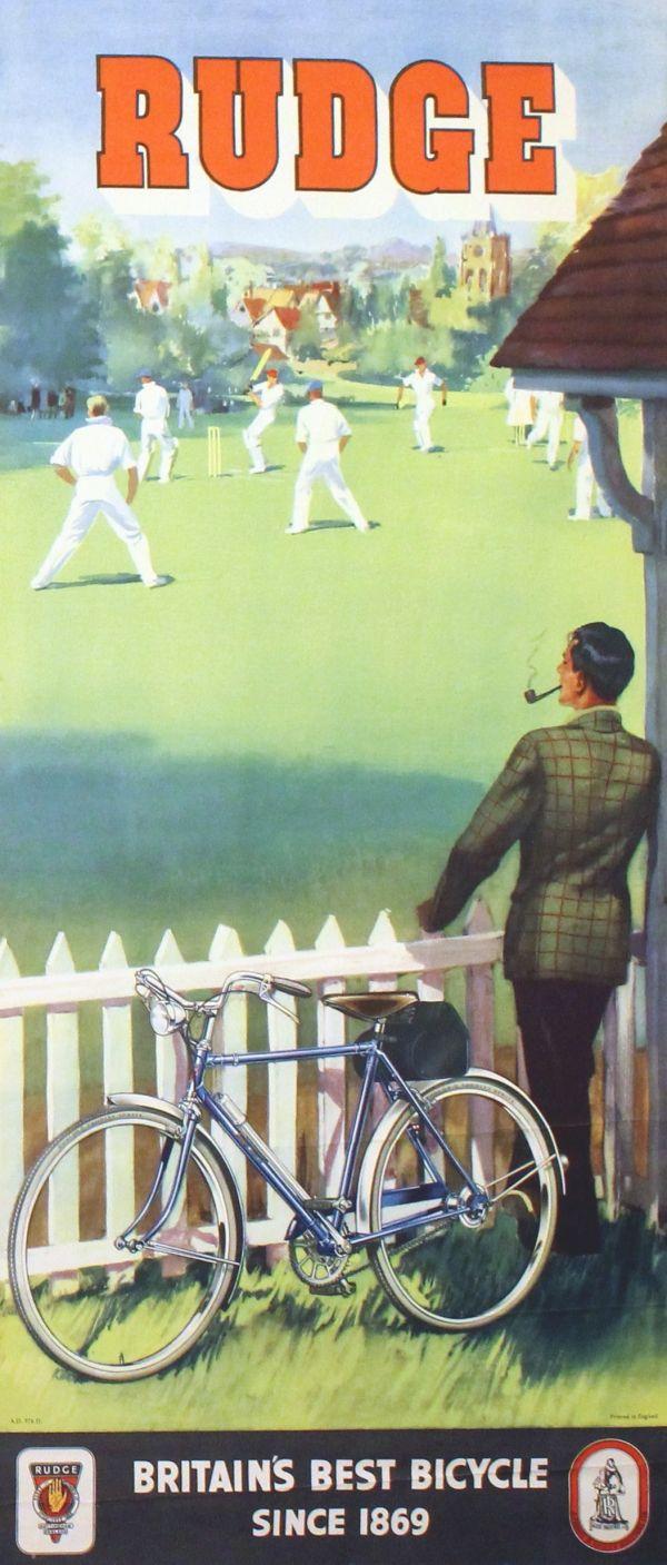 Eredeti vintage plakátok -> Sport poszterek -> Rudge Kerékpárok, Krikett - AntikBar