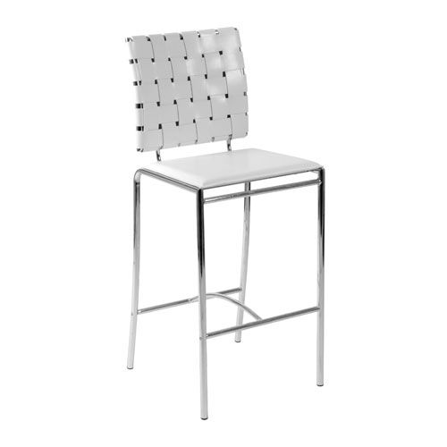 carina white counter chair set of two euro style bar height 28 to 36 - 36 Inch Bar Stools