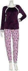 Cuddl Duds As Is Petite Ultra Plush Velvet Fleece Pajama Set