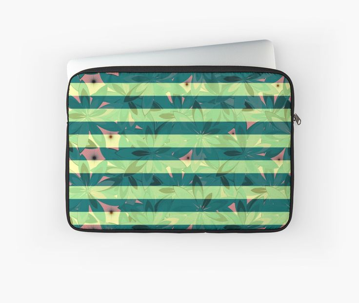 A new #laptop sleeve with a fresh floral design in green @redbubble