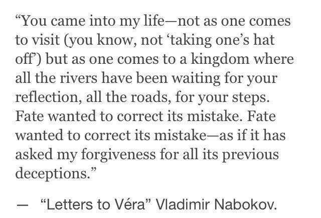 VN  |    VLADIMIR NABOKOV   |  LETTERS TO VERA  |   #VladimirNabokov