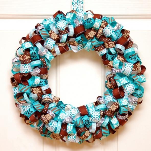 Ribbon wreath diy