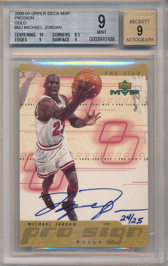 078c3748793 Michael Jordan 2000-01 UD MVP Pro Sign Gold Signature 24 25 BGS 9 Auto 9   MichaelJordan  SportsCards  Collect