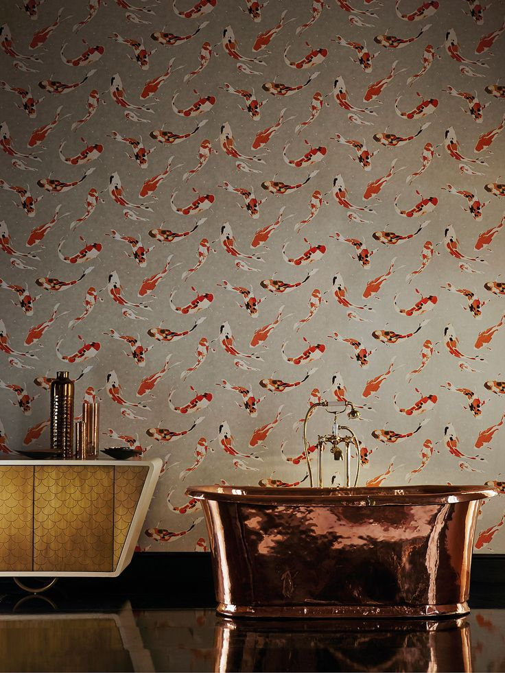 BuyHarlequin Koi Wallpaper, Paprika 110903 Online at johnlewis.com