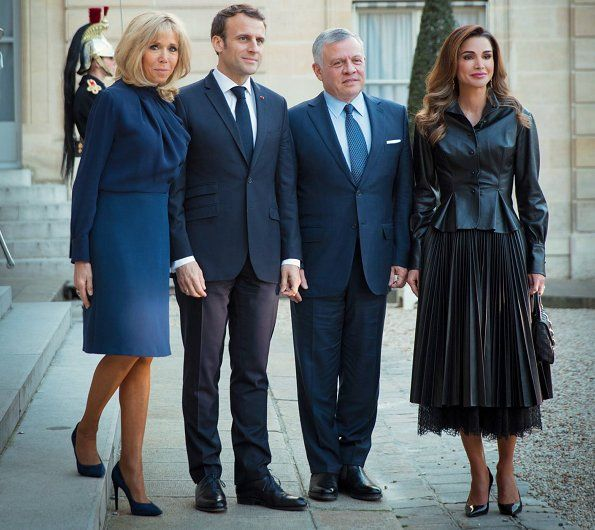 State Visit Of King Abdullah Ii And Queen Rania To France Queen Rania Queen Fashion Royal Fashion
