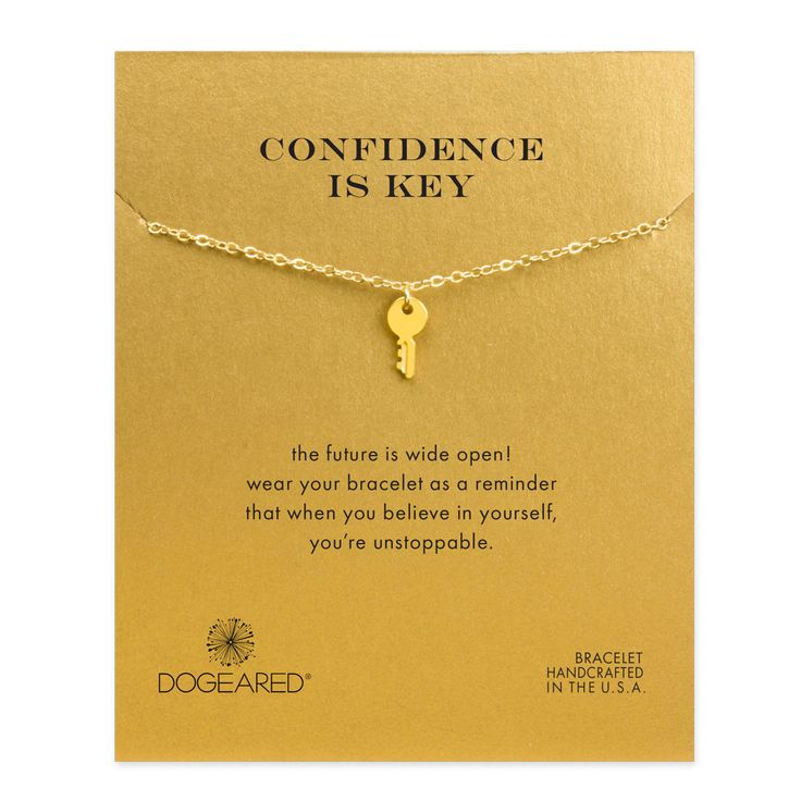 confidence is key bracelet, gold dipped
