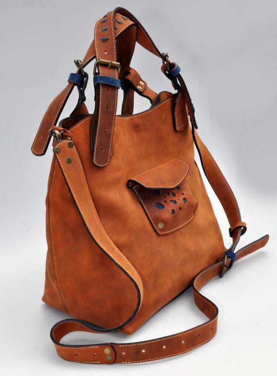 Ginger Leather Oversized Bag