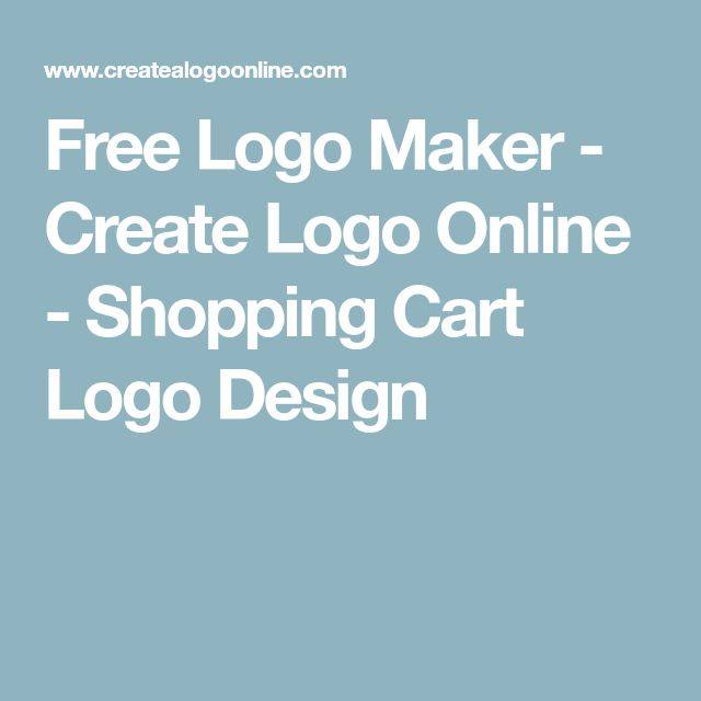 Free Logo Maker - Create Logo Online - Shopping Cart Logo Design