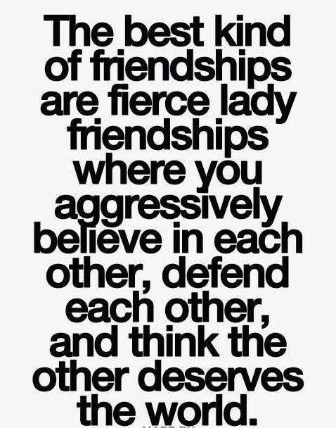 Fierce lady friendships